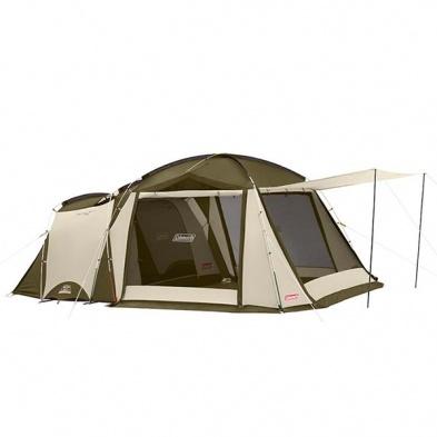 COLEMAN CM-33800-TOUGH SCREEN 2 ROOM帳篷 橄欖綠 搭設方式