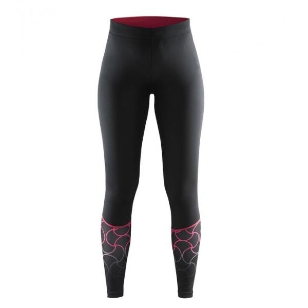 女競跑長褲  1902501 黑紅彩印