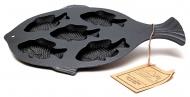 鑄鐵5份魚型烤盤 10145