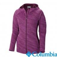 Columbia 美國 女快排刷毛連帽外套 紫紅 54120PD