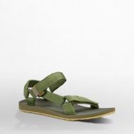 Teva 美國 男款戶外織帶涼鞋 花紗橄欖綠1004006MODL