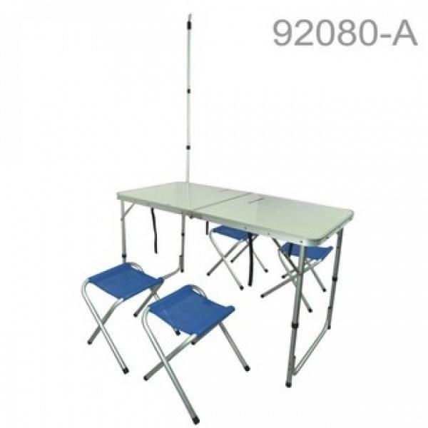 慶城 鋁塑板折式桌椅組附吊燈架置物網 92080-A