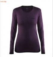 Craft 瑞典 女 全天候長袖排汗衣 1903714 深紫 黑