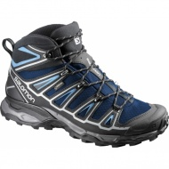 Salomon 373311黑/甲基藍 X Ultra Mid 2 男GTX中筒登山鞋 Gore-Tex健行鞋/多功能鞋/郊山鞋/防水越野鞋