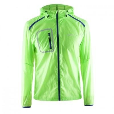 男輕量網格防波外套 1903208 螢光綠