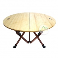 Go Sport 慶城 高日式和風大竹板休閒摺疊圓桌 92492