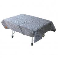 漾彩防水桌布 (藍色三角) 露營/海灘墊/戶外野餐/蛋捲桌桌布/巾 - 26022