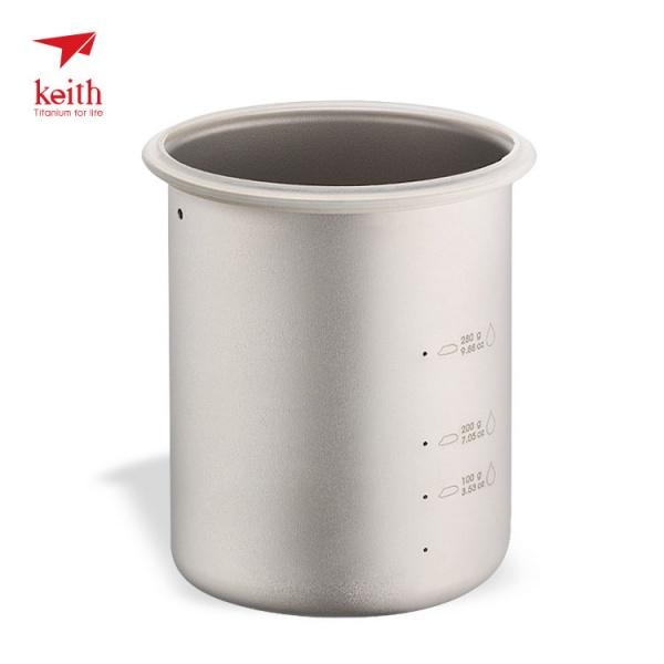 KEITH 100%純鈦 超輕戶外多功能煮飯鍋900ml 不糊鍋蒸飯器/鈦鍋/鈦煲/水 Ti-6300