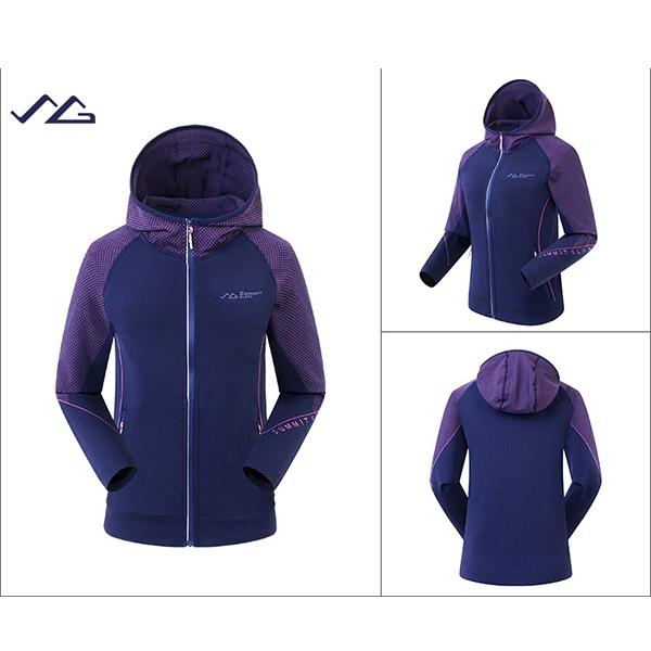 SUMMIT MW7616 中性無縫運動外套-紫