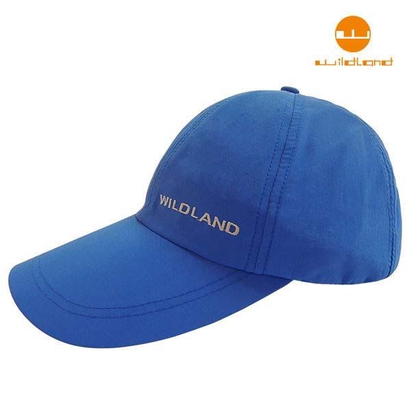 荒野 W1013 -45中性抗UV透氣棒球帽 -地中海藍