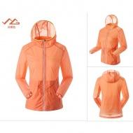 SUMMIT GG307 女式戶外休閒登山皮膚衣外套-淡橘