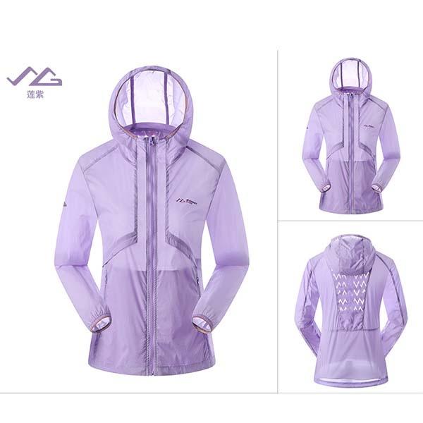 SUMMIT GG309 女式戶外休閒登山自駕遊皮膚衣-蓮紫