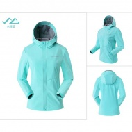 SUMMIT GG101 女款 輕薄防風夾克-水綠藍
