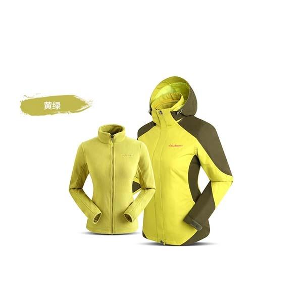 SUMMIT GS036 女三合一衝鋒衣-黃綠色