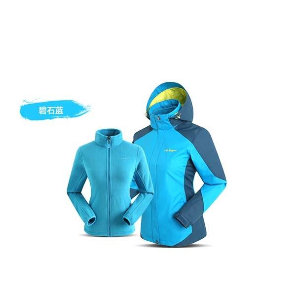 SUMMIT GS036 女三合一衝鋒衣-碧石藍