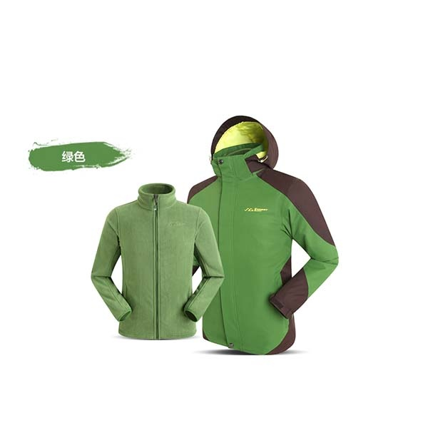 SUMMIT GS036 男三合一衝鋒衣-草綠色