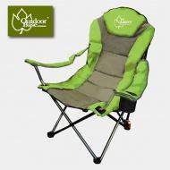 Outdoorbase 25018 太平洋。高背。三段式休閒椅 綠灰