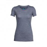 icebreaker 104067 女 COOL-LITE 圓領短袖上衣-條紋深灰