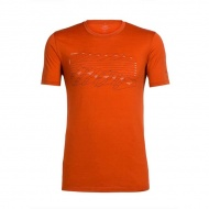 icebreaker 103840 Tech Lite 男圓領短袖上衣 陡坡山塊-銅橘