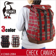 CHUMS 美國 Back Pack Check Canvas 帆布後背包 CH60-2084