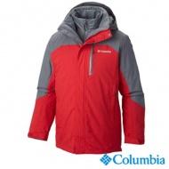 Columbia UWM10690RD 男款兩件式防潑保暖連帽外套