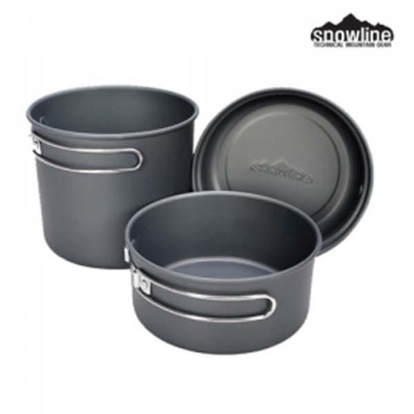 Snowline SN65UKO003 輕量黑鋁套鍋-二鍋一蓋