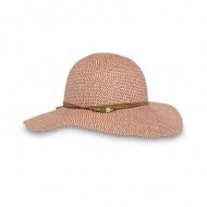 SUNDAY 女抗UV防曬輕量編織帽 岩石紅 SAS2C86496C-426-07