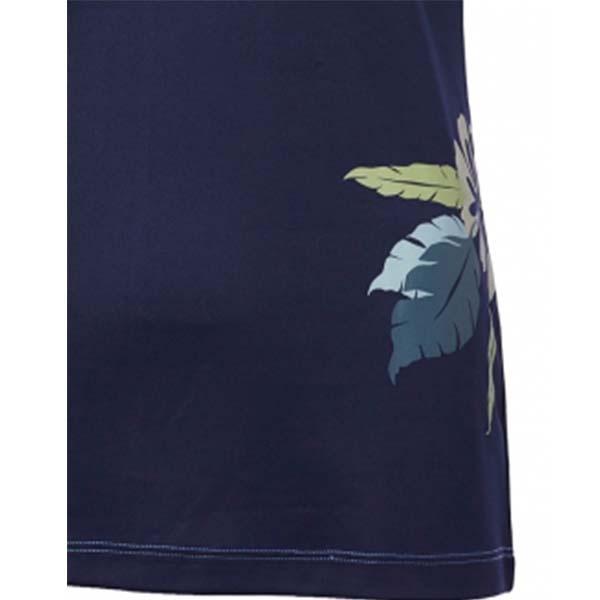 WILDLAND 61625 女咖啡紗抗菌抗UV長版上衣 藍紫