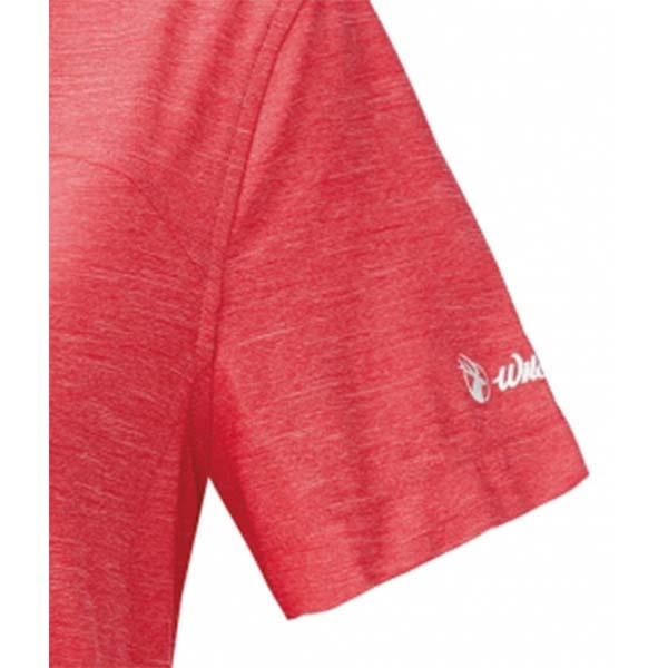 WILDLAND 61621 女拉鍊雙色吸濕排汗上衣 芙蓉紅