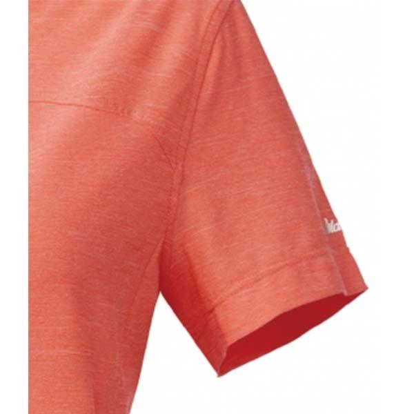WILDLAND 61621 女拉鍊雙色吸濕排汗上衣 蜜橘