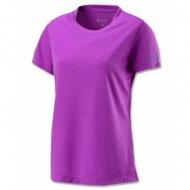 WILDLAND W1623 女疏水纖維圓領排汗衣 葡萄紫