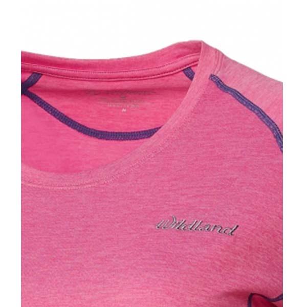 WILDLAND 61611 女圓領雙色抗UV長袖上衣 蜜粉紅