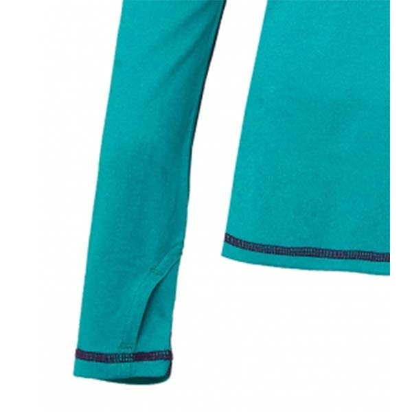 WILDLAND 61611 女圓領雙色抗UV長袖上衣 湖水藍