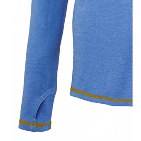 WILDLAND 61611 女圓領雙色抗UV長袖上衣 紫羅蘭