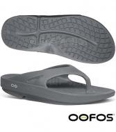 OOFOS M1000-SLA男舒壓夾腳鞋-鐵灰