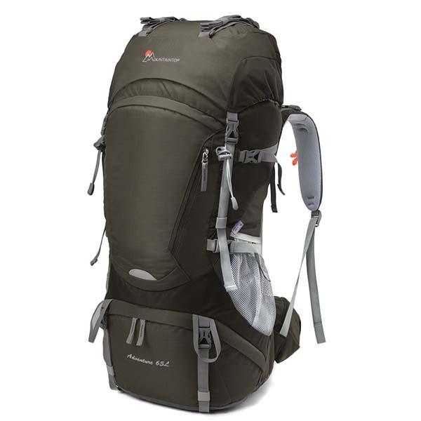 瑪丁圖 輕量65+10L背可調登山背包 MPA5822 咖啡