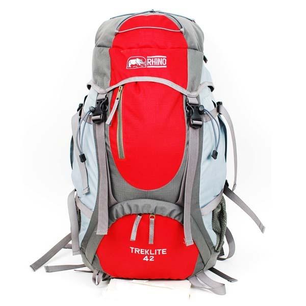 RHINO G142 TrekLite 42公升超輕透氣網架背包 紅