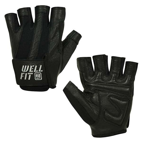 WELLFIT 海力士女款健身手套 黑色 WF05001515