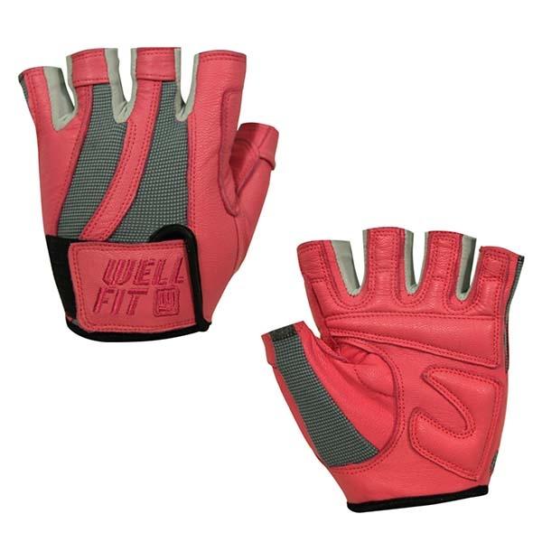 WELLFIT 海力士女款健身手套 玫瑰粉 WF05001515
