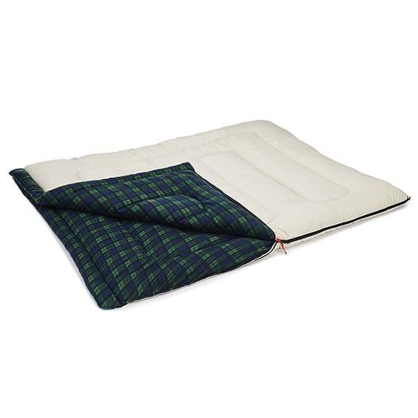 COLEMAN CM-33804 冒險者橄欖格紋刷毛睡袋 C0