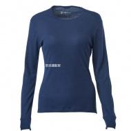 WILDLAND H2663-72 女Highest彈性圓領保暖衣 深藍色