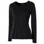 WILDLAND 0A52661-54 女U領內刷毛時尚保暖上衣 黑色