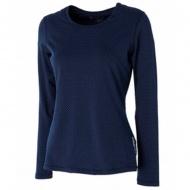 WILDLAND 0A52661-80 女U領內刷毛時尚保暖上衣 藍紫色