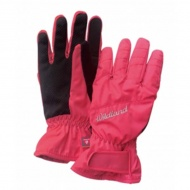 WILDLAND W2003-78 女PR棉防水防風觸控手套 粉橘色