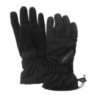 WILDLAND W2006-54 中性PR棉防水防風觸控手套 黑色