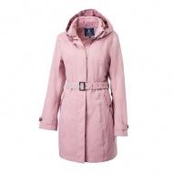 WILDLAND 0A62909-28 女長版防水防風時尚外套 珍珠粉