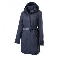 WILDLAND 0A62909-54 女長版防水防風時尚外套 黑色