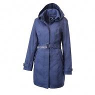WILDLAND 0A62909-80 女長版防水防風時尚外套 藍紫色
