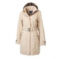 WILDLAND 0A62909-82 女長版防水防風時尚外套 卡其色