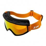 ZIV G006028 霧白 橘電水銀 滑雪護目鏡